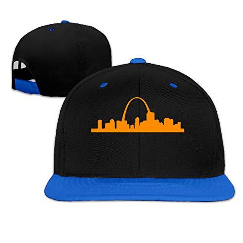 St Louis Arch Men/Women Fashion Adjustable Baseball Cap Snapback Plain Cap Blue (970 Gateway)