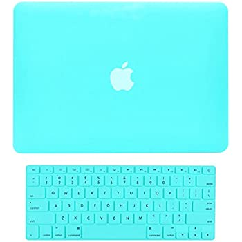 """Top Case 2 in 1 Rubberized Hard Case Cover and Keyboard Cover for Macbook White 13"""" (A1342 / Oct 2009 - 2011) with Top Case Mouse Pad (case NOT for 1st gen A1181 )- Hot Blue"""