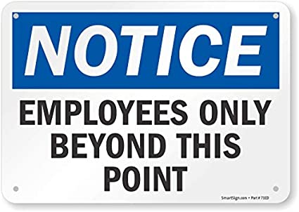 picture relating to Printable Employees Only Sign called SmartSign \