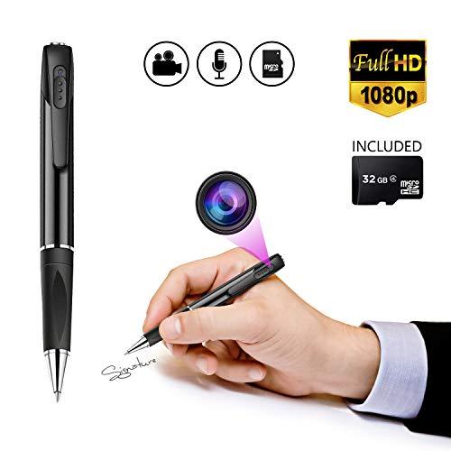 Spy Pen Spy Pen Camera HD 1080p Spy Camera Hidden Camera Pen Camera Pens Spy Pens Pen Spy Camera Pen Camera Pen Camera Spy Pen Recorder Pen Hidden Camera Pen Cam Video Pen 32 GB Camera Pens (Black)