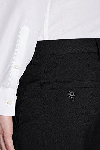 next Homme Pantalon sans pinces Noir Élastique 32 / Short - Slim Fit