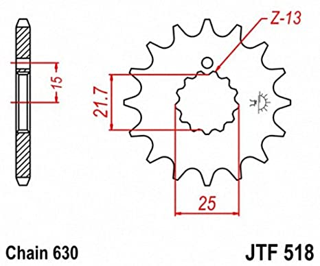 JT Sprockets JTF518.13 13T Steel Front Sprocket