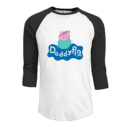 Men Peppa Pig - Daddy Pig's Best Bits Vintage 3/4 Sleeve Baseball T Shirts -