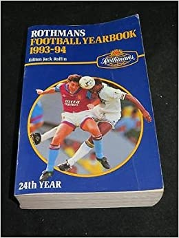 Book Rothmans Football Yearbook 1993-94