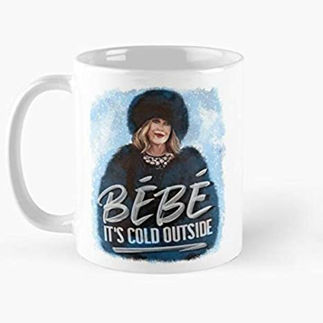 Amazon Com Original Artist Moira Rose Holiday Bebe It S Cold Outside Classic Mug The Funny Coffee Mugs For Halloween Holiday Christmas Party Decoration 11 Ounce White Miniot Kitchen Dining