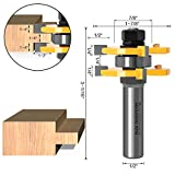 Tongue and Groove Router Bits Set, ZokMok 1/2 Inch