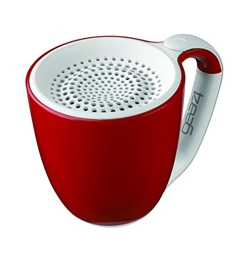 GEAR4 Double Espresso Large Coffee Cup Style Bluetooth Speaker with Handsfree (Red) - America Usb Powered Speaker