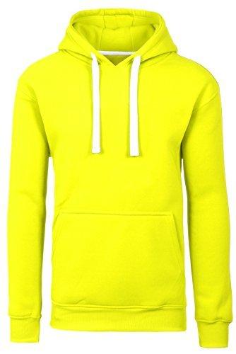 d0e71f276f1 JC DISTRO Men Hipster Hip Hop Basic Sweatshirts Pullover Lime Hoodie Jacket  Medium