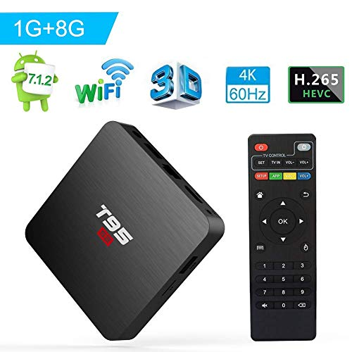 Android Box, TUREWELL T95 S2 Android TV Box 7.1 Amlogic S905W 1GB RAM 8GB ROM Quad core 64 Bits 2.4GHz WiFi Smart TV Box 4K Media Player
