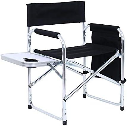 Homefami Camping Chair Foldable Director Chair Lightweight Aluminum Frame Makeup Artist Chair