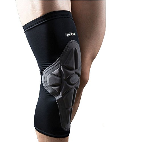 Knee Brace Sleeve - Leg Support Compression Pads for Impact Protection and Performance Sport Training | Great for Tendonitis, Stiff and Sore Muscles and Joints [DR. (Impact Recovery)