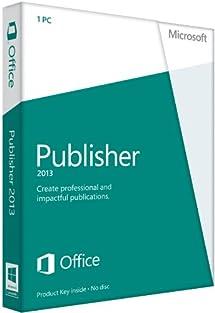 Microsoft Publisher 2013 Key Card (No Disc)