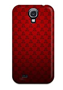 Defender Case For Galaxy S4, Fresh Red Texture Pattern