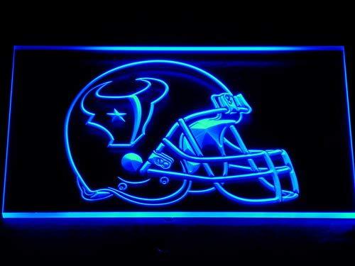 TeroLED Houston Texans Helmet 30cm x 20cm Led 3D Engraved Neon Sign Blue