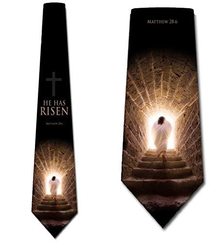 Religious Necktie - Religious Ties Mens Jesus Easter Necktie by Three Rooker