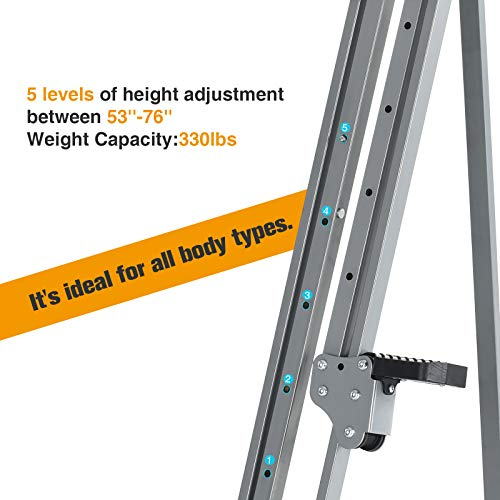 Murtisol Exercise Climber Fitness Vertical Climbing Cardio Machine with LCD Monitor,Natural Climbing Experience for Home Body Trainer by Murtisol (Image #2)