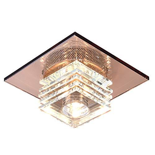 - Modern Crystal Ceiling Light Lamp Flush Mount Pendant Lamp Fixture Lighting Chandelier (Smoke)