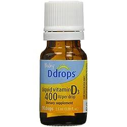 Ddrops Baby 400 Iu Vitamin D3 Drops, 90 Count (pack of 3)