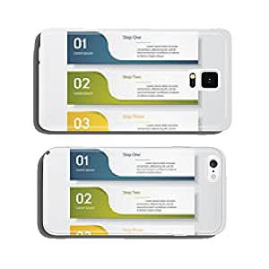 Design clean number banners template. Vector. cell phone cover case Samsung S6
