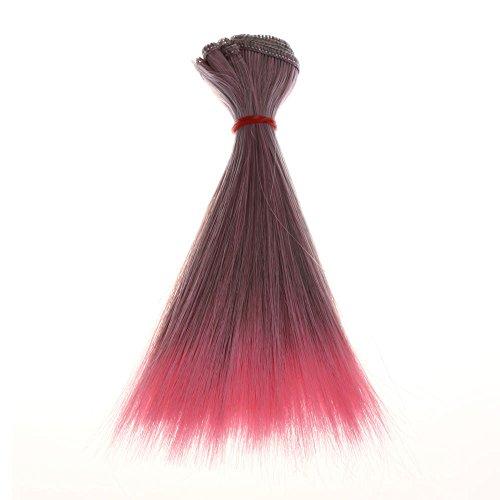 Jinjiums Women's Wigs,Fashion 15 cm Wholesale Light Straight Hair Hair DIY/BJD Wig Doll Halloween Party Cosplay (B) ()