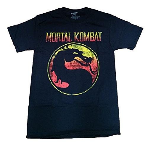 Mortal Kombat Logo Licensed Graphic T-Shirt - Large]()