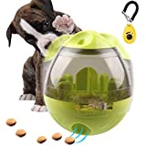 FAOUGESS Dog Cat IQ Training Food Ball Pet Interactive Exercise Toy Tumbler Egg Smarter Dogs Playing Treat Ball Puzzle Shaking Food Dispensing Feeder Leak