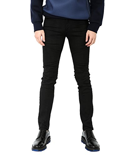 wiberlux-neil-barrett-mens-zipper-pocket-detail-paneled-skinny-fit-jeans-30-black