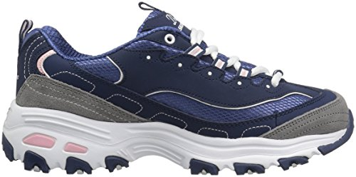 navy Fan Biggest Blu Skechers white D'lites Donna Sneaker grey 1YwEwq