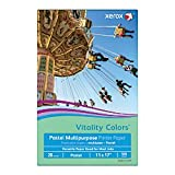 Xerox(R) Vitality Colors(TM) Multipurpose Printer Paper, Ledger Paper, 20 Lb, 30% Recycled, Green, Ream of 500 Sheets