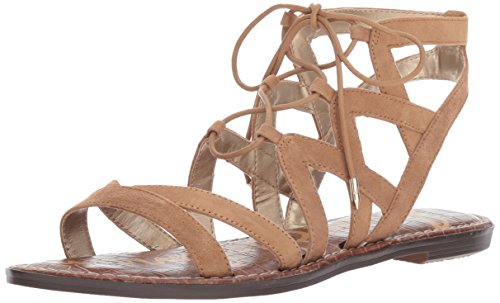Sam Edelman Women's Gemma Flat Sandal, Golden Caramel Suede, 7 M US by Sam Edelman