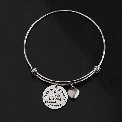 KUIYAI I Love You a Bushel and a Peck Bracelet Mom Grandma Bracelet (Silver) by KUIYAI (Image #1)'