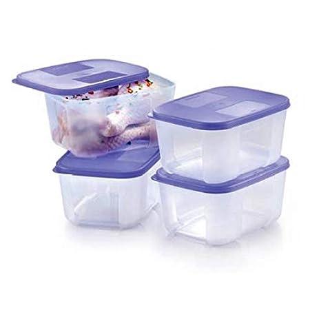 Tupperware congelador mate pequeño conjunto, 700 ml, juego de 4 ...