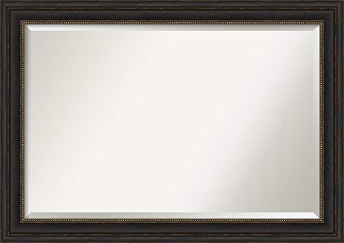Framed Vanity Mirror | Bathroom Mirrors for Wall | Accent Bronze Mirror -