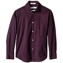 Calvin Klein Big Boys' Button-Front Shirt