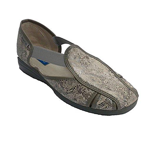 Sandale femme type de chaussure avec un grand élastique sur les côtés Muro en gris
