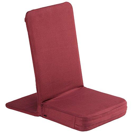 MANDIR Bodenstuhl mit gepolsterter Rückenlehne, Meditationsstuhl mit extra-dickem Sitzkissen