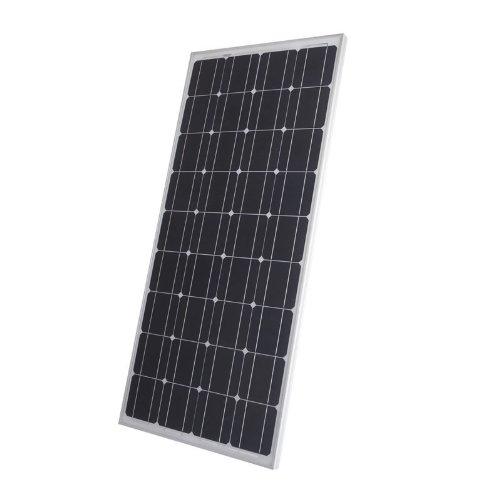 100W Photovoltaik Solarpanel - Solarmodul - Monokristallin Silizium Solarzellen - Silber Eloxierter Rahmen - Ideal zum Aufladen von 12V Batterien - Kompakte Größe, Maximale Leistung