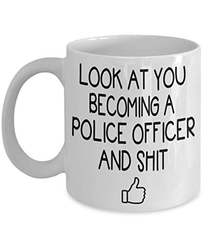 Police Graduation Coffee Mug - Gift Idea For police academy graduation, graduates, police officer, law enforcement Tea Cup Mother's day Father's day