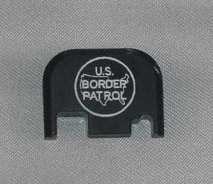 Rear Slide Cover Plate Laser Engraved for Glock Pistols US Border Patrol