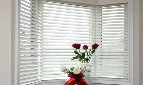 Premium White 2 1/2″ Inch Faux Wood Blind 71 5/8″ W x 64 L Actual Size 71 1/8 x 64