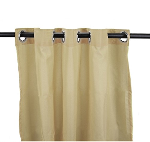 DH 1 Piece 84 Inch Khaki Color Gazebo Curtain Single Panel, Light Brown Solid Color Pattern Rugby Colors Outside, Outdoor Pergola Drapes Porch Deck Cabana Patio Screen Entrance Sunroom Lanai