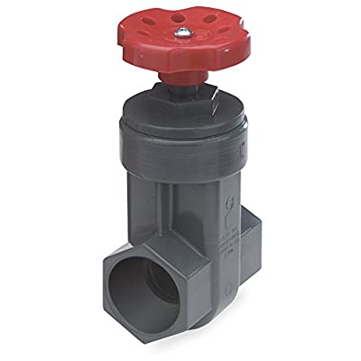 King Brothers Inc. GVG-2000-S 2-Inch Slip PVC Schedule 80 Gate Valve, Gray from King Brothers Inc.