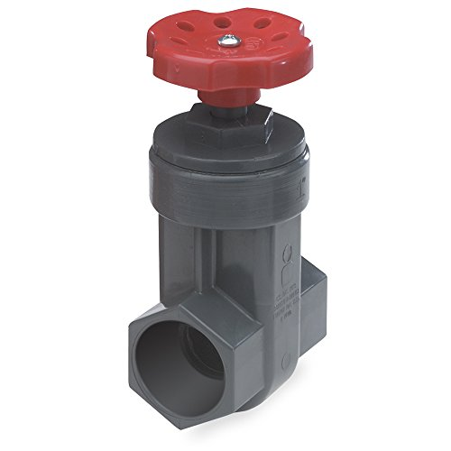 King Brothers Inc. GVG-1000-S Nds ProGuard Gate Valve, 1 In, Ips Hub, Sch 80 Pvc, Gray Body, Handle, 1-Inch, Red
