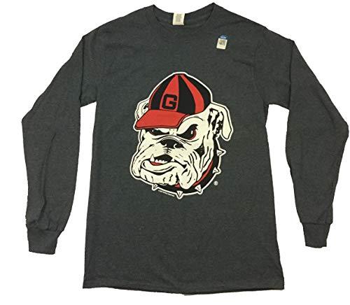 New World Graphics NCAA Georgia Bulldogs Face Long Sleeve T-Shirt-XL Dark Heather