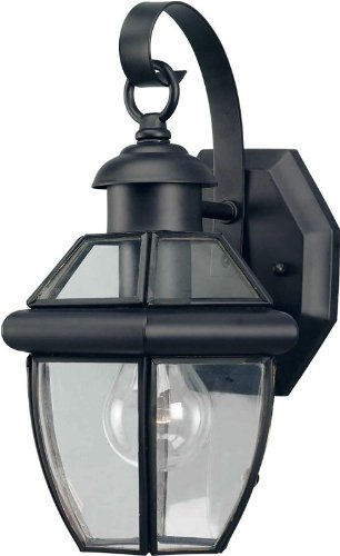 Forte Lighting 1101-01 Outdoor Wall Sconce from the Exterior Lighting Collection, Black 01 Exterior Wall Sconce