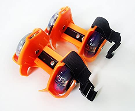 Nuevos Flashing Rollers Ruedas de patines para zapatos Moda Guay (Naranja)
