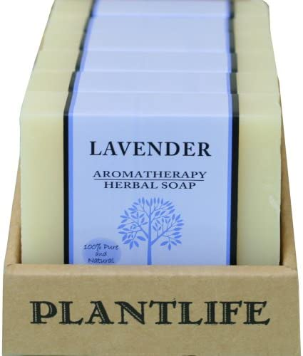 Value 6 Pack- Lavender 100 Pure Natural Aromatherapy Herbal Soap- 4 oz each
