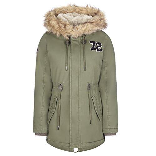 Khujo Parka Winterjacke Wintermantel khaki oliv grün Teddy