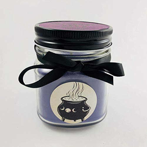 Witches Brew Scented Hand Poured Coconut Wax Halloween Candle in 8oz Mason Jar by Tennessee Wicks