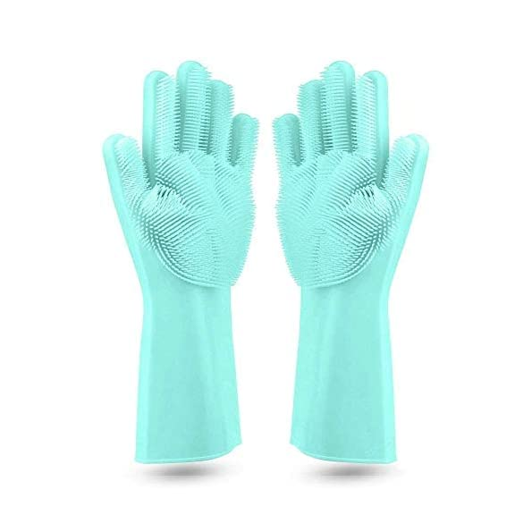 Max-Home-Magic-Silicone-Cleaning-Hand-Gloves-for-Kitchen-Dishwashing-and-Pet-Grooming-Washing-Dish-Car-Bathroom-multicolor-Pack-of-1-Pair